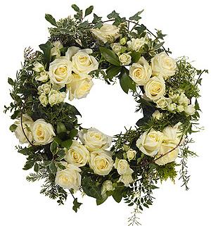 Round-Wreath-White
