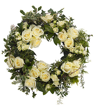 Round-Wreath-White